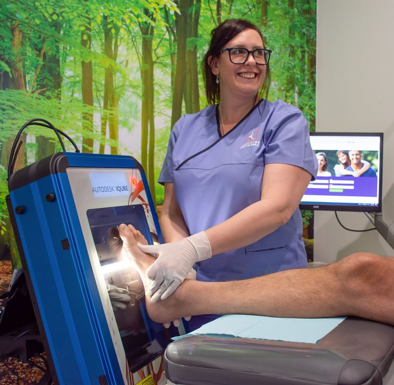 3D laser scanning for orthotic therapy