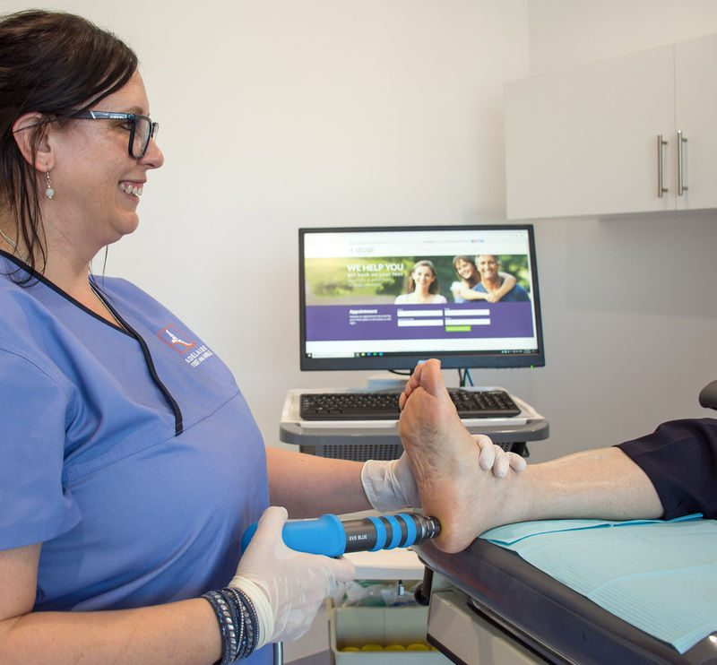 Extra corporal shock wave therapy
