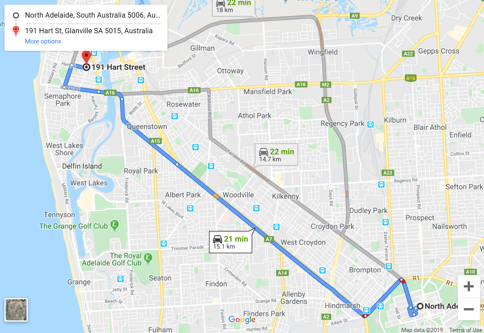directions from north adelaide