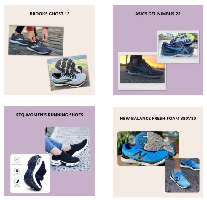 Running shoes for High arches